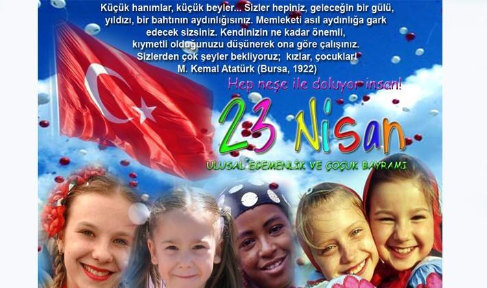 23 Nisan Ulusal Egemenlik ve Çocuk Bayramı'nı kutluyoruz