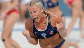 Norveç plajda ilk altınını kazandı