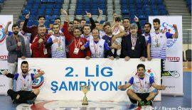 2.ligin şampiyonu Nef Bahçelievler Belediyesi