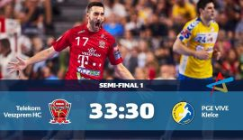 VELUX EHF Final4'da ilk finalist Telekom Veszprem
