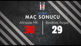 Alingsas HK – Beşiktaş Aygaz: 30-29