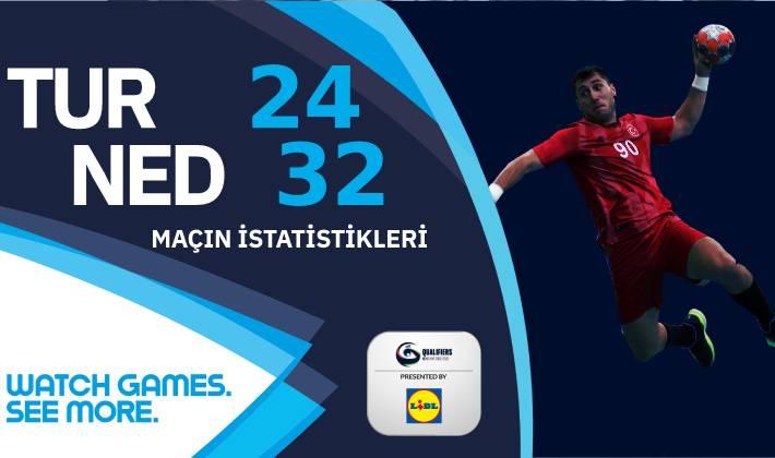 Türkiye – Hollanda maçının istatistikleri