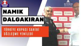 Türkiye Kupası sahibi Namık Dalgakıran, sözleşme yeniledi