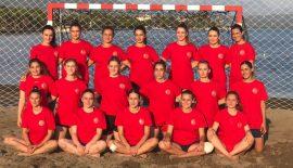 Plaj'da kadınlar 2 galibiyet 1 mağlubiyet elde etti