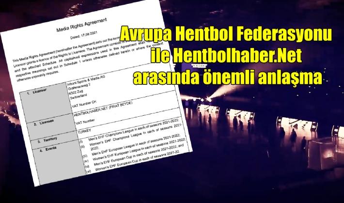 Avrupa Hentbol Federasyonu ile Hentbolhaber.Net arasında önemli anlaşma